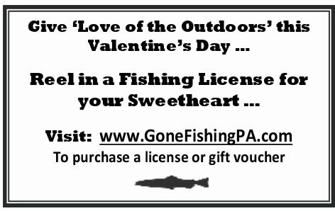 Give your valentine the gift of fishing susquehanna for Day fishing license
