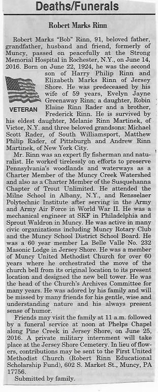 2016-06-21 Bob Rinn obituary