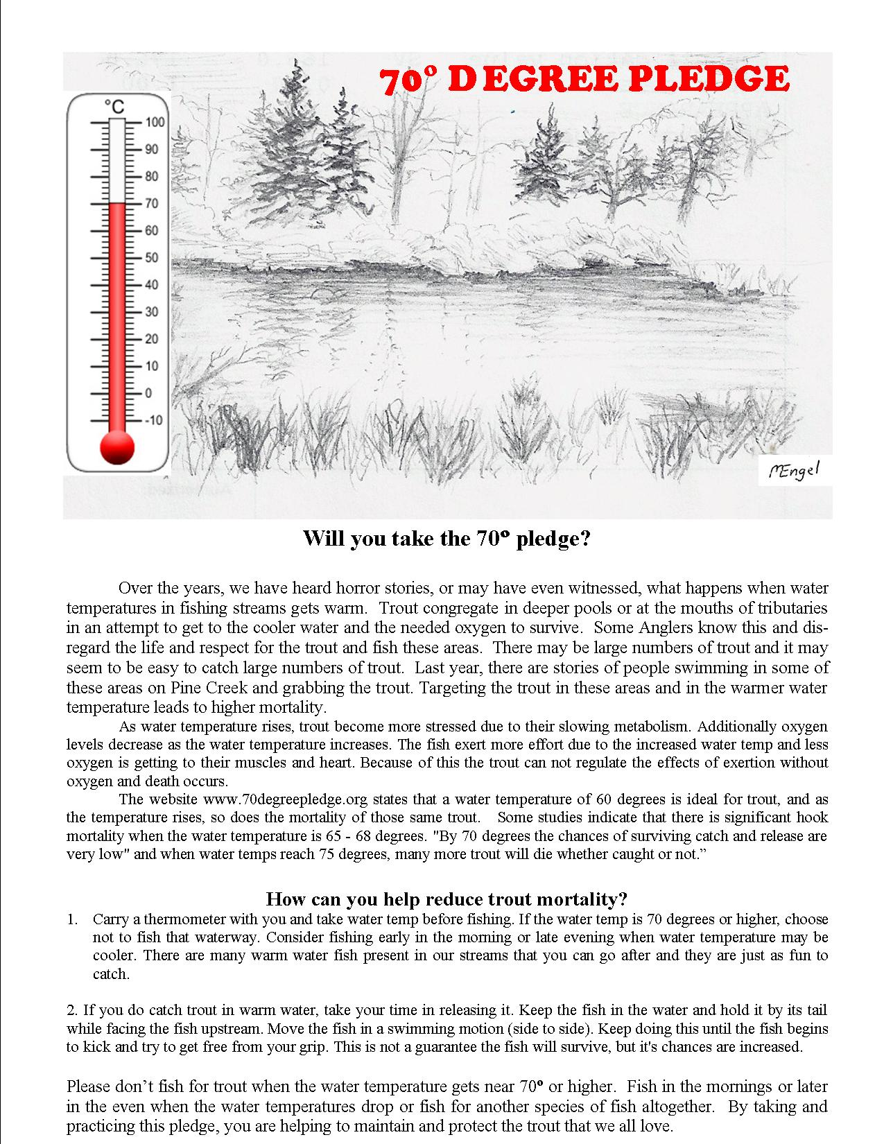70 degree pledge